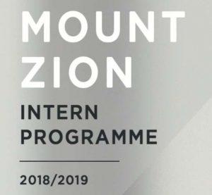 Mount Zion Baptist Church Cardigan Intern Programme 2018/2019