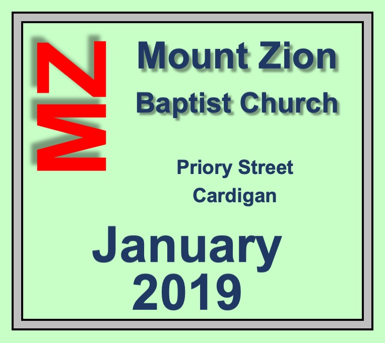 Mount Zion Baptist Church Cardigan January 2019 Diary