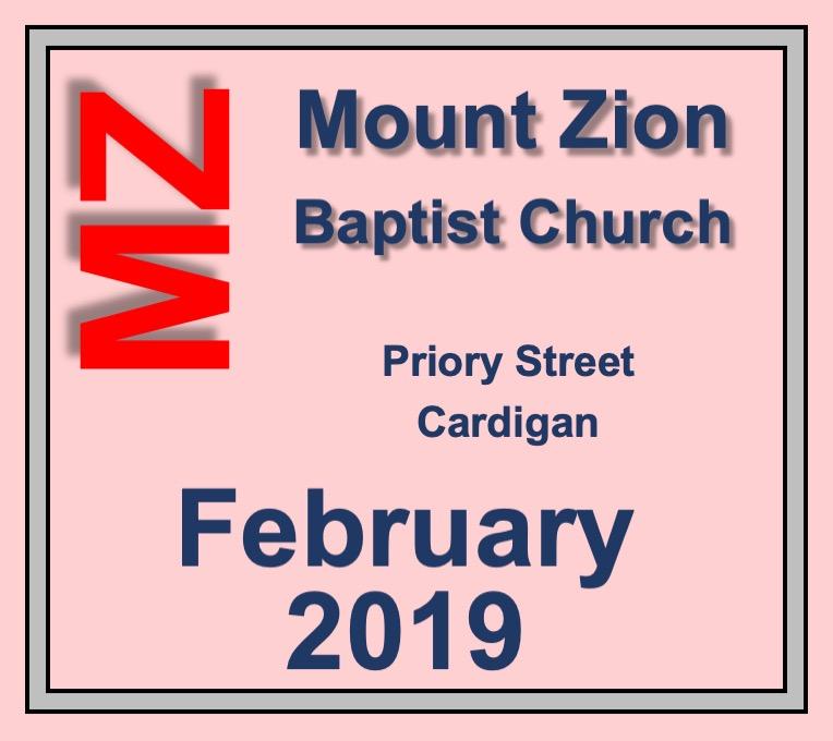 Mount Zion Baptist Church Cardigan February 2019 Diary
