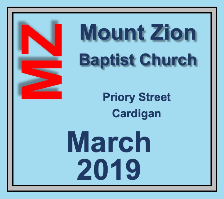 Mount Zion Baptist Church Cardigan March 2019 Diary