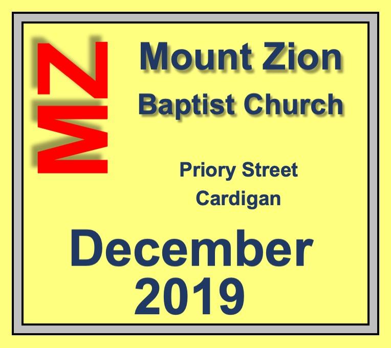 Mount Zion Baptist Church Cardigan December 2019 Diary
